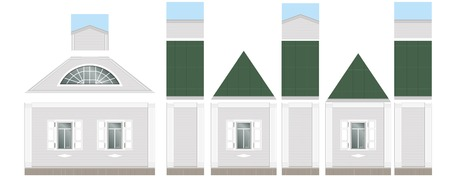 facade: Building facade parts - walls - Vector Illustration Illustration