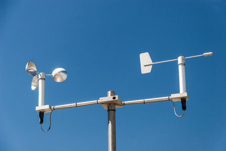 meteorological: Mini Weather station against the blue sky Stock Photo