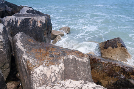rimini: Mediterranean Sea Coast line near Rimini, Italy