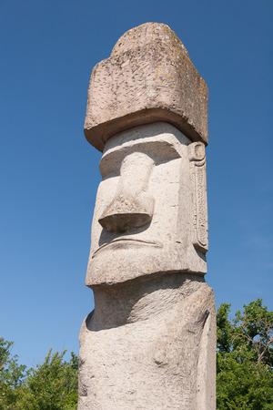 rapa nui: Uno Rapa Nui Estatua de la isla de Pascua en Viterbo, Italia