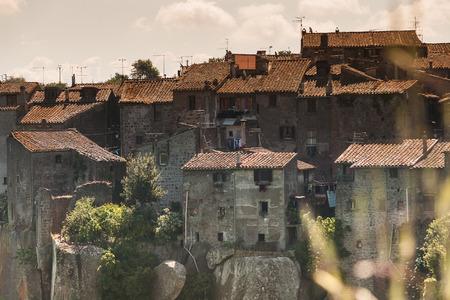 viterbo: Medieval Houses near Viterbo, Lazio - Italy