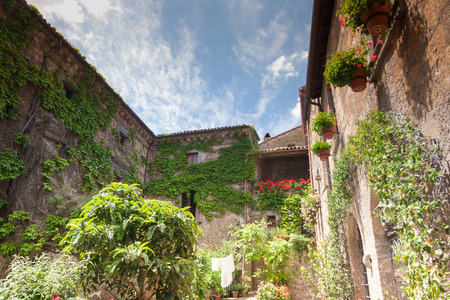 tuscia: Architecture of Bagnoregio near Viterbo, Lazio - Italy