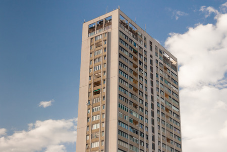tallest: Tallest Building in Rimini, Italy - against blue sky