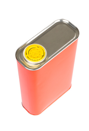 oil can: Red Oil can isolated on white background