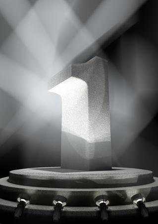 pedestal: Night Anniversary Scene with ONE on pedestal