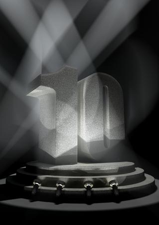 pedestal: Night Anniversary Scene with TEN on pedestal