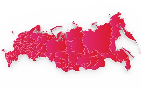 crimea: New map of the Russian Federation and Crimea. 3D