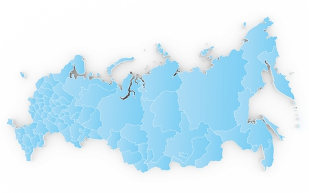 the federation: New map of the Russian Federation and Crimea. 3D