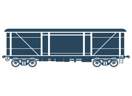 railway: Covered Railway freight car