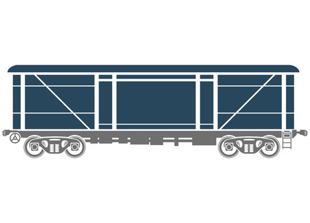car: Covered Railway freight car Illustration