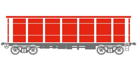 freight: Open Railway freight car  Illustration