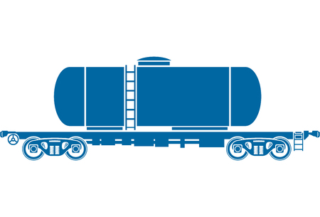 railcar: Tank Railway freight car - railcar - Vector illustration