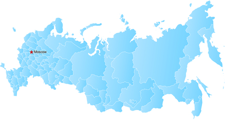 federation: Vector map of the Russian Federation and Crimea Illustration