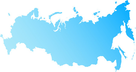 Vector map of the Russian Federation and Crimea Illustration
