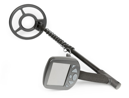 metal detector: Modern Metal Detector Isolated on white background