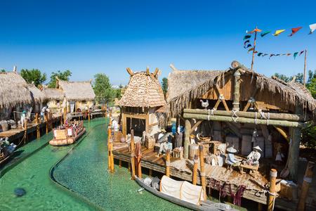 port aventura: Salou, SPAIN - AUGUST 26, 2014: Amusement Theme Park Port Aventura Editorial
