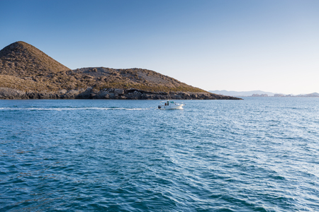 isla: Isla Grosa - Spanish island near La Manga, San Javier Stock Photo