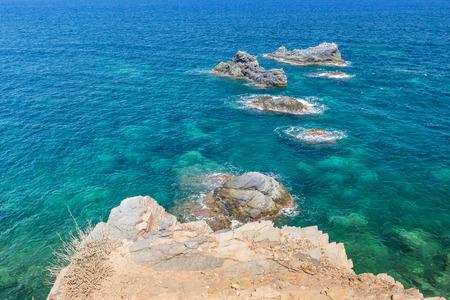 paisaje mediterraneo: paisaje marino mediterráneo paisaje cerca de San Javier, España Foto de archivo
