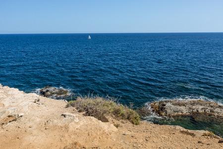 paisaje mediterraneo: Mediterranean landscape seascape near San Javier, Spain Foto de archivo