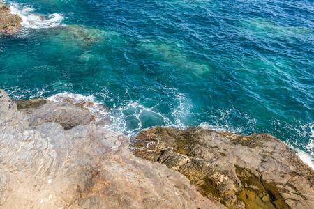 paisaje mediterraneo: paisaje marino mediterr�neo paisaje cerca de San Javier, Espa�a Foto de archivo