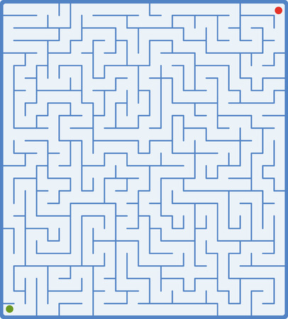 complex: vector illustration of complex labyrinth on white Illustration
