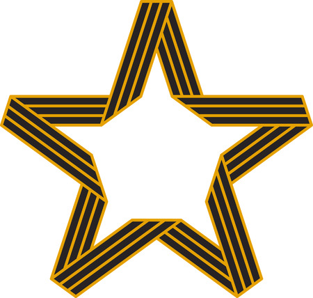 victory symbol: Vector Star of St. George Ribbon Victory symbol Illustration