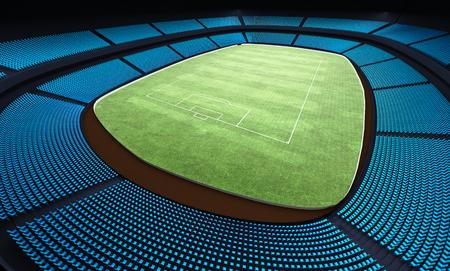 football stadium: 3D illustration of a football stadium Stock Photo