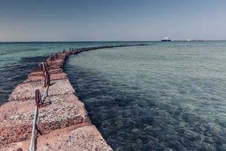 breakwater: Solid Stone breakwater in the Red sea