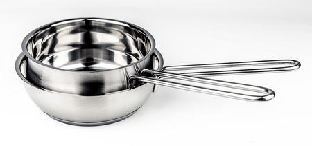 cookware: Two Metal fry pots. Cookware