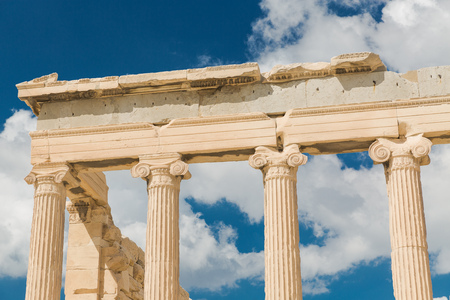 Erechtheion in Acropolis, Athens - Greece Stock Photo