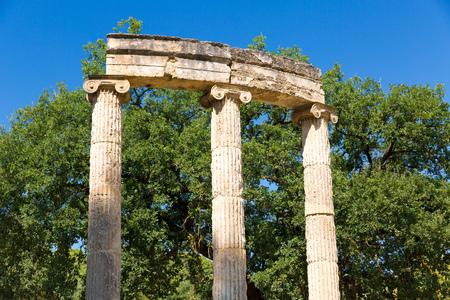 corinthian column: Ruin in Olympia - Sanctuary of ancient Greece