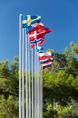 Flags on the flagpole