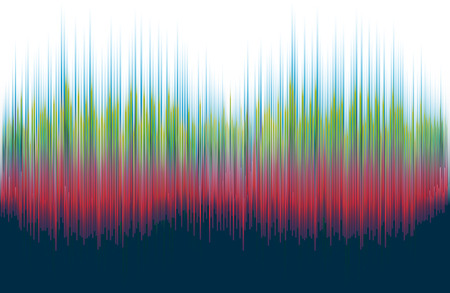 Abstract graphics - Sound waves spectrum