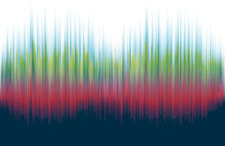 Gráficos abstractos - espectro de ondas sonoras