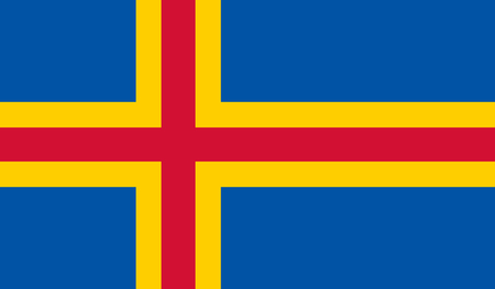 Vector Illustration of Aland Flag
