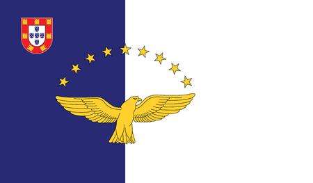 Vektor-Illustration der Azoren-Flagge