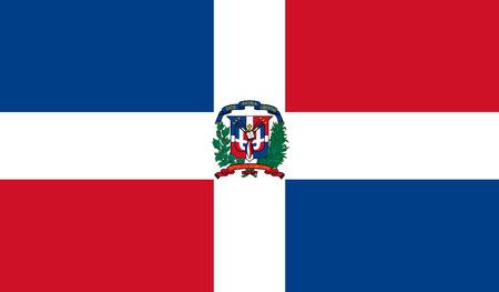 Dominikanische Republik Flagge Vektorgrafik