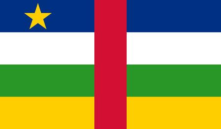 Central African Republic Flag Vector Illustratie