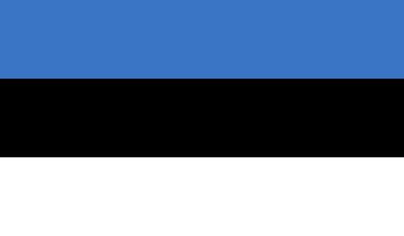 Estonia Flag  イラスト・ベクター素材