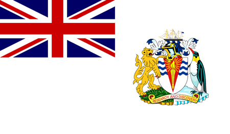 British Antarctic Territory Flag