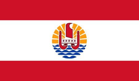 French Polynesia Flag Standard-Bild - 115568159