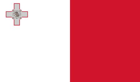 Malta Flag Illustration