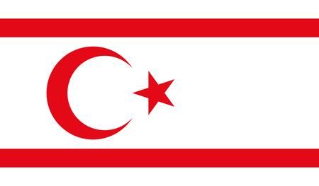 Turkish Republic of Northern Cyprus Flag Illustration