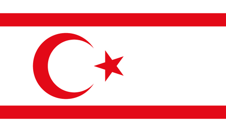 Turkish Republic of Northern Cyprus Flag Vettoriali
