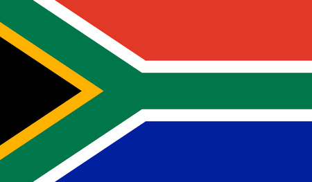 South Africa Flag  - Vector Illustration