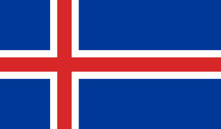 Iceland Flag - Vector Illustration