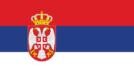 Serbia Flag Illustration