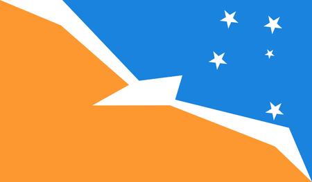Tierra del Fuego Province (Argentina) Flag 向量圖像