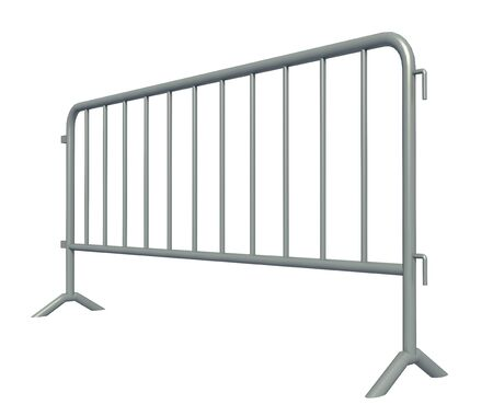 3D illustration of Mobile Security fence isolated