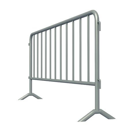 3D illustration of Mobile Security fence isolated Stock fotó - 125043692
